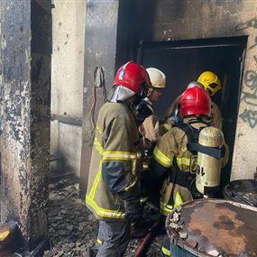بالصور: الدفاع المدني يكشفُ حصيلةَ حريقِ الأوزاعي