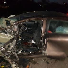 بالصور: قتيلان إثر حادث مروّع في الكرنتينا