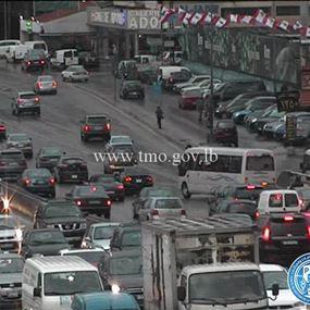 بالصورة.. تصادم بين 7 سيارات على جسر انطلياس