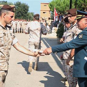 بالصور: تخريج دورة المجوقل ال18 في ثكنة داني حرب في غوسطا