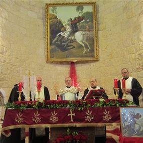 دير مار جرجس في الناعمة يحيي عيد شفيعه