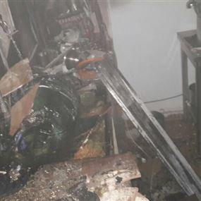 حريق في معمل للحلويات بسبب تسرب الغاز