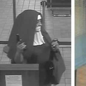 امرأتان ترتديان زي الراهبات تحاولان سرقة بنك أمريكي