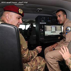 زيارة قائد الجيش إلى كتيبة الحراسة والمدافعة وقاعدة بيروت الجوية