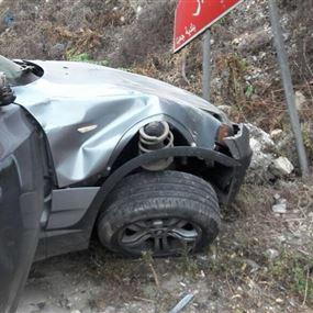 مصاب اثر حادث مروري في جعيتا