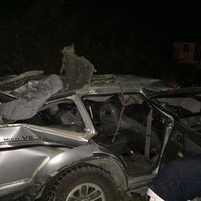 قتيلان وعدد من الجرحى في حادث سير مروع