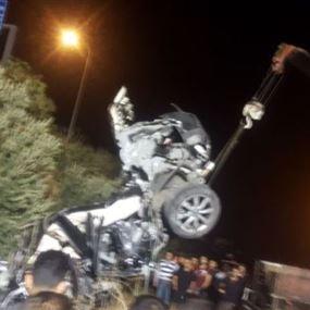 بالصور: حادث سير مروع على أوتوستراد الجنوب ـ عدلون