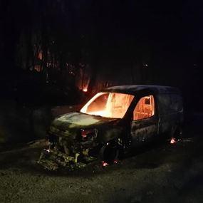 اندلاع النيران في احراج مزرعة يشوع القرنة الحمراء وزكريت