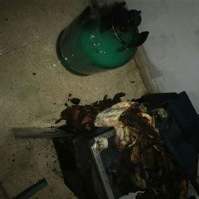 حريق داخل شقة في احد المجمعات السكنية في انطلياس