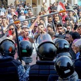 إصابة ضابط و3 عناصر بجروح في تظاهرات يوم الأحد