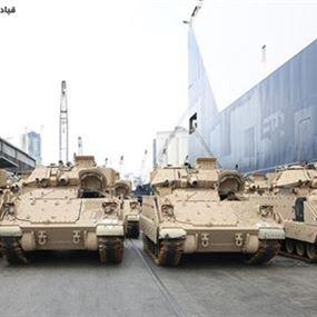 الجيش يتسلّم الدفعة الثالثة من آليات القتال المدرعة نوع BRADLEY