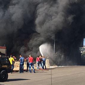 بالصورة: حريق كبير بثانوية في ريفون