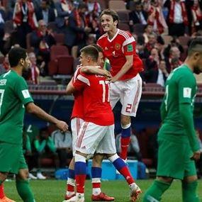 روسيا تمطر شباك السعودية بخمسة أهداف في افتتاح مونديال 2018