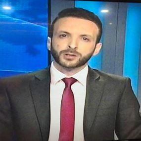 وسيم عرابي يبدأ عمله كمقدم لنشرة أخبار تلفزيون لبنان
