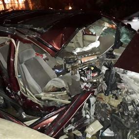ثلاثة جرحى اثر حادث سير مروع