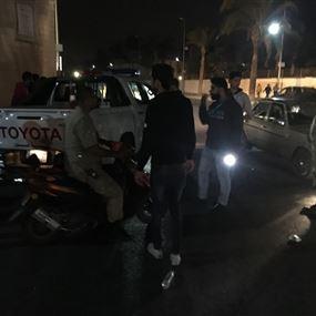 جرح شرطيين من بلدية صور