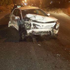 جريحان جراء حادث سير في ميروبا