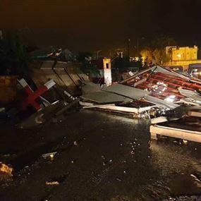 الرياح الشديدة تتسبب بوقوع اصابات من الجيش اللبناني!