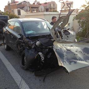 بالصور: مصابة جراء حادث سير في البوار