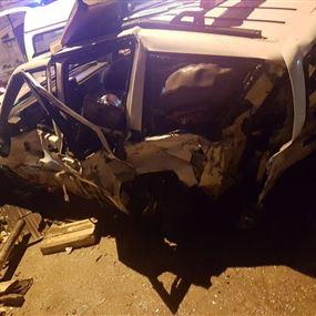 بالصور: جريح اثر حادث سير في زحلة