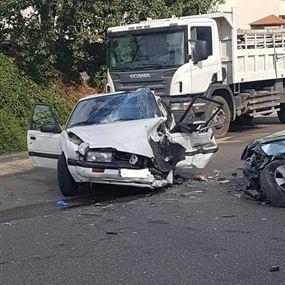 بالصور: وفي بلونة.. حادث سير مروع بين 4 سيارات