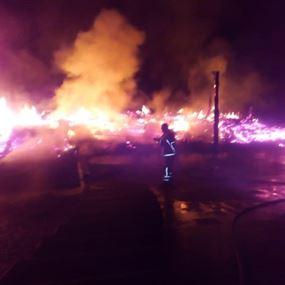 بالصور: النيران تلتهم فيلا في حمانا