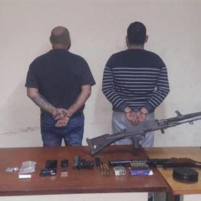 في السبتية والدورة.. توقيف مروجيَن وضبط كمية من الأسلحة والمخدرات