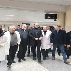زيارة مفاجئة لوزير الصحة الى المطار