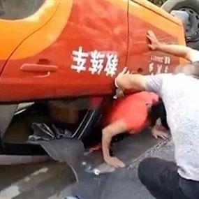 بالفيديو: انقلبت بها السيارة في محاولتها الثامنة لنيل رخصة قيادة!