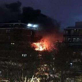 بالفيديو.. انفجار ضخم يهز مبنى في العاصمة الفرنسية باريس