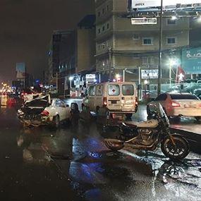 جريحة اثر حادث سير في جل الديب