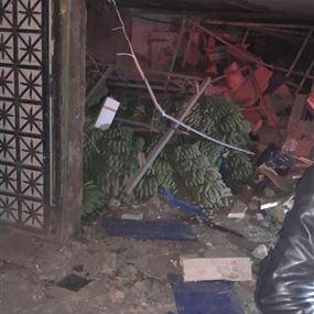 انفجار داخل مخمر للموز في كفرياسين (فيديو وصور)