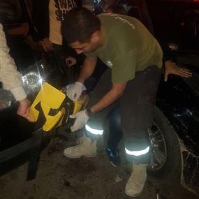 بالصور: جريحة صدماً في الدكوانة