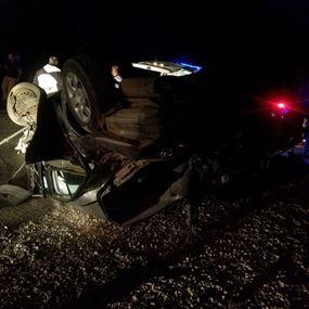 قتيل وخمسة جرحى نتيجة تصادم بين جرار زراعي وسيارتين