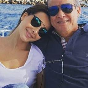 نانسي عجرم تحتفل باليوم العالمي للأب في أحضان والدها