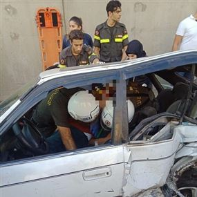 جريحان جراء حادث سير على طريق نفق المدينة الرياضية