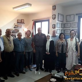 وفد من تجمع الجمعيات الاهلية زار العقيد عبدو خليل في صور