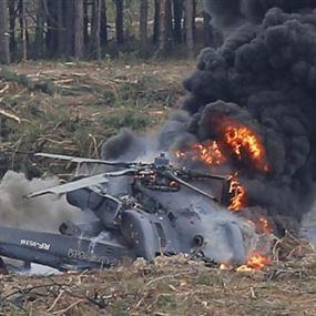 سقوط إصابات نتيجة تحطم طائرة مروحية في اسرائيل