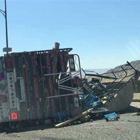 بالصور: حادث سير مروّع على طريق عام ضهر البيدر