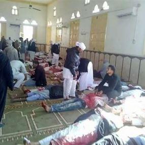ضحايا بهجوم ارهابي كبير على مسجد في سيناء اثناء صلاة الجمعة