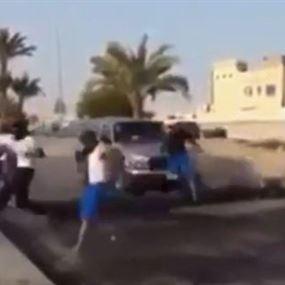 فيديو لآلية تصدم متظاهرين.. وقوى الأمن توضح