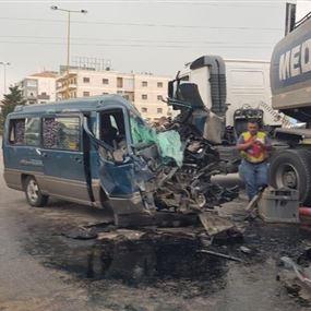 قتيل جراء حادث سير على اوتوستراد زحلة
