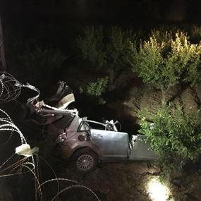 بالصور: قتيلان اثر حادث سير مروع على طريق عام الكرك