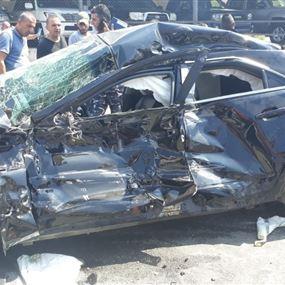 بالصورة: الأب كيال يتعرض لحادث سير مروع