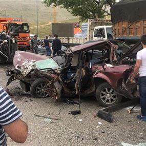 بالفيديو والصور: قتيل و5 جرحى بحادث مروّع في ضهر البيدر