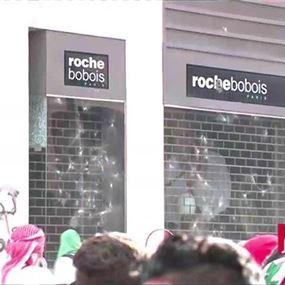 تحطيم زجاج محلات تجارية في محيط مجلس النواب (فيديو)