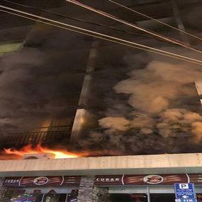 حريق ضخم بمبنى في كركول الدروز
