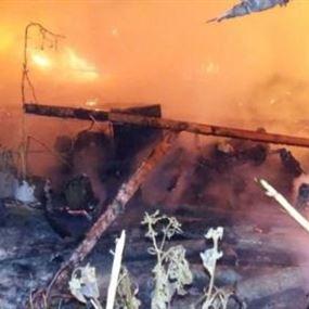 وفاة 3 فتيات بحريق في مخيم للنازحين