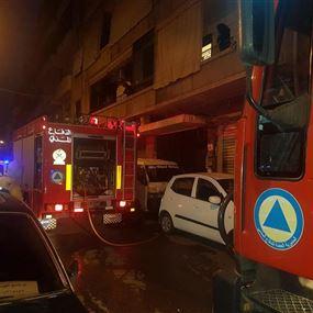 بالصور: قتيلتان في حريق غرفة لعمّال اجانب في الدورة