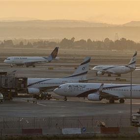 اصطدام طائرتين في مطار تل أبيب (فيديو)